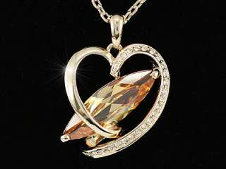 Heart Rose Gold Plated 8 Carat Sapphire Necklace SN159