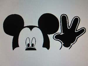 MICKEY MOUSE waving window decal sticker image graphic
