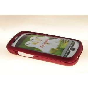 HTC MyTouch Slide 3G Hard Case Cover for Metallic Red