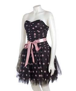 Gunne Sax by Jessica McClintock Strapless Polka Dot Dress