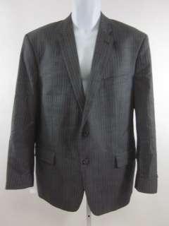 MICHAEL KORS Mens Gray Blue Pinstripe Blazer Sz L