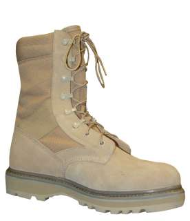 Tan Hot Weather Combat Boots by TRU SPEC  Leather/Nylon