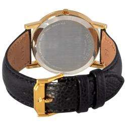 Mens Museum Classic Black Leather Strap Watch