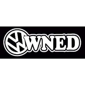 Owned Volkswagen VW Euro JDM Tuner Vinyl Decal Sticker
