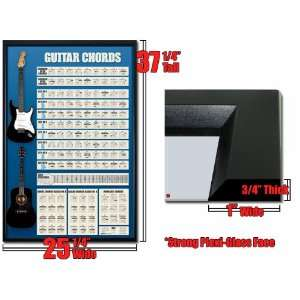 Framed Guitar Chords 3 Poster Guide Chart List Fr 8912