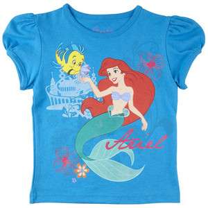 LITTLE MERMAID ARIEL Disney Princess T Shirt Tee NWT Sz. 2T, 3T, 4T or