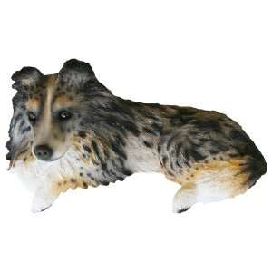 Shetland Sheltie Blue Merle Collectible Dog Figurine Door