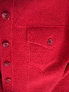 JONES NEW YORK COUNTRY Red Wool Crop Sport Sweater Jacket Button Front