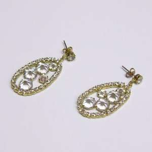 of Clear Crystals, Antique Gold Plated, High Quality Czech Rhinestones