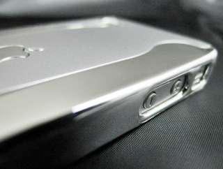 Silver Metallic 2 Piece Chrome Hard Case Cover For iPhone 4 4G 4GS