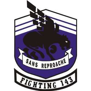 US Navy VF 143 Fighting 143 San Reproche Squadron Decal