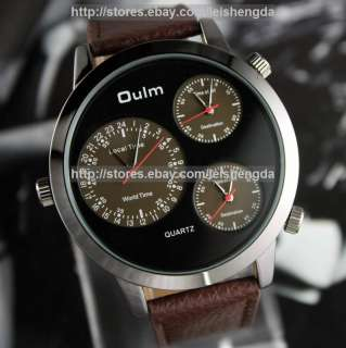 Army Military Multi time zones Mens Analog Large Watch