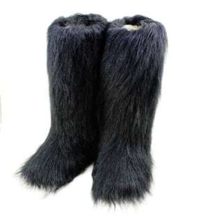 New Fashion Flat Faux Fur Furry Eskimo Winter Yeti Boot snow boots
