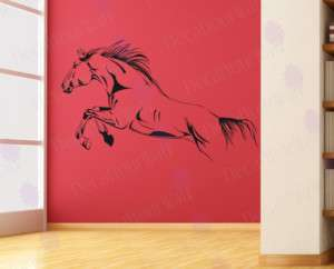 Running Horse Removable Vinyl Wall Decals Sticker Decor