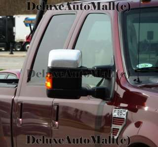 Ford F250 Superduty 08 09 2010 Chrome Mirror Covers Top