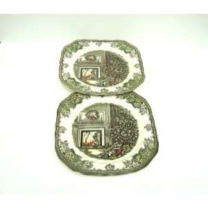 Johnson Brothers Friendly Village CHRISTMAS 7.5 x 7.5 SALAD PLATES