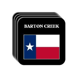US State Flag   BARTON CREEK, Texas (TX) Set of 4 Mini