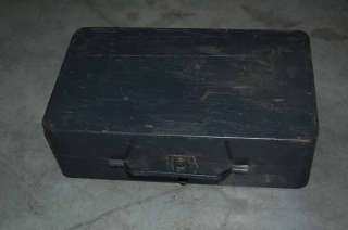 WWII US Army medicall coleman 2 burner stove with storage box vintage