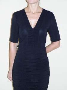 BURBERRY Danielle Black Ruched Jersey Dress 12 NWT