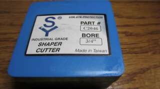Part C2046, SY Industrial Grade Shaper Cutter #C2046, Bore 3/4