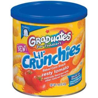 Gerber Graduates Lil Crunchies Zesty Tomato Baked Corn