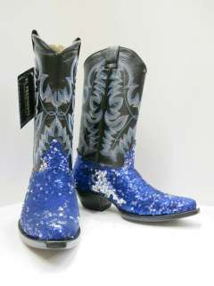 WOMENS SHINY METALLIC MULTICOLOR WESTERN COWBOY BOOTS SHOES