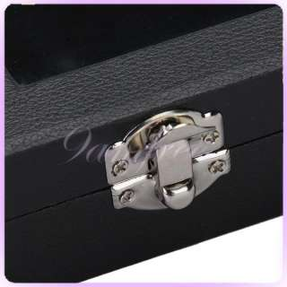 Luxury wood 49 Pair Cufflinks Jewelry Storage Display Box Case Black
