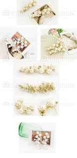 Fashion Cute Lovely Branch Pattern Style Round Pearl Earring