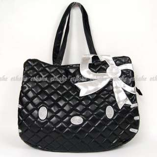 Hello Kitty Head Shaped Tote Shoulder Bag Black G7P5