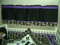 Custom made Baby Nursery Crib Bedding Set made w/Baltimore Ravens