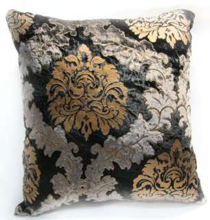 EW05 Gold Black Embroider Aster Velvet Cushion/Pillow/Throw Cover
