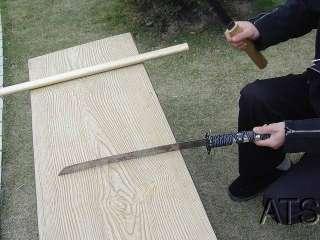 Japanese Bamboo Wood Shirasaya Sword Set Katana Wakizashi Tanto