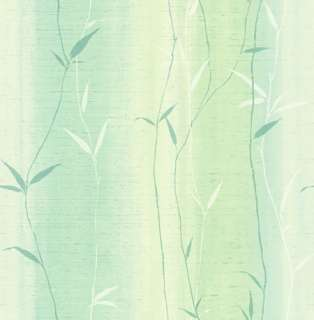 Wallpaper Aqua Teal Blue Green Bamboo Leaf Stripe