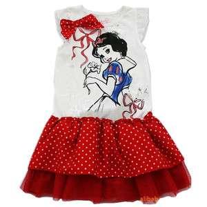 Kids Girls Snow White Costume Fairy Summer Dress Skirt Blue Tutu