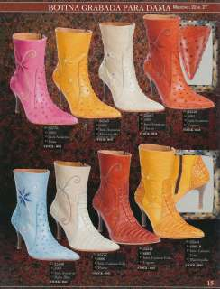 /Caiman Tail Print Ladies High Heel Western Boots Diff. Colors/Sizes