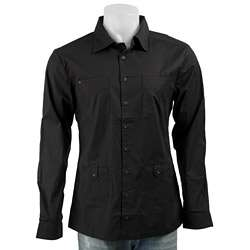 The Smooth Company Mens Black Button down Shirt  Overstock