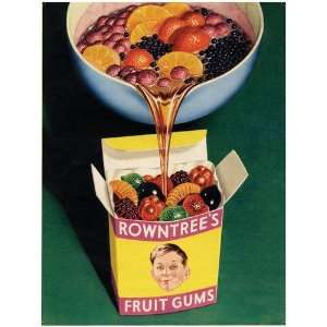 FRUIT GUMS EXTRA LARGE METAL ADVERTISING WALL SIGNS: Home & Kitchen