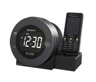 SONY SPEAKER ALARM CLOCK FM RADIO CHARGER FOR SONY ERICSSON & WALKMAN
