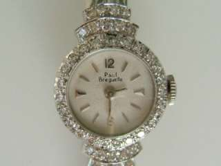 14k. White Gold Paul Breguette Ladies Diamond watch, Vintage
