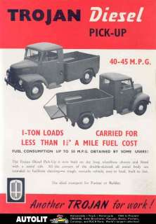 1955 Trojan 1 Ton Perkins Diesel Pickup Truck Brochure