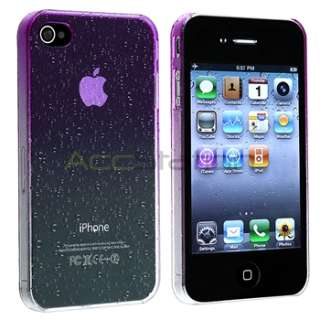 Water Dorp Transitional Color Purple Case for iPhone 4 G 4S AT&T