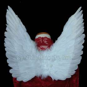 Genuine WHITE Feather Angel wings for children of 5 10 or teen girls