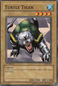 YUGIOH LEGEND OF BLUE EYES WHITE DRAGON LOB 023 TURTLE TIGER