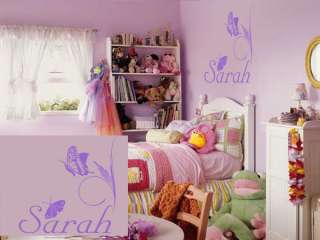 Personalized Butterflies Name Wall vinyl Decal Sticker childrens