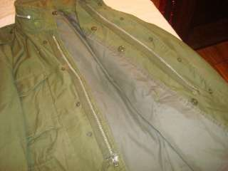 Original Vietnam War US Army M65 Field Jacket LARGE Sz 48 Uniform