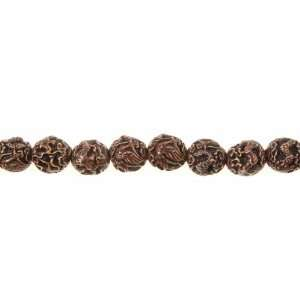 20mm Chinese Stone Carving Beads Black and Red and Green