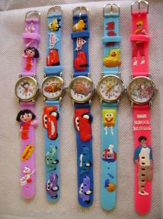 Kids Girls Boys TV / Film Character Vinyl Strap Watch