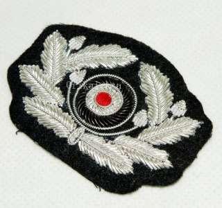 WW2 GERMAN ARMY OFFICER SILVER HAT WREATH  5322