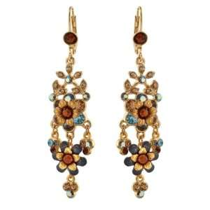 Amazing 24Karat Gold Plated Dangle Earrings by Michal Negrin Made with