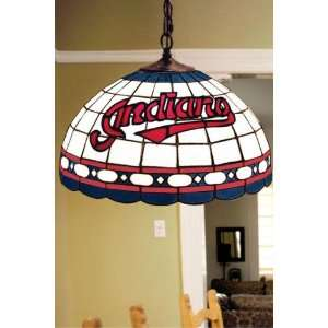 Team Logo Hanging Lamp 16hx16l Clevelnd Indian Home